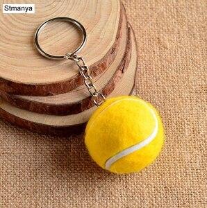 Металлический брелок для тенниса, 6 цветов, брелок для автомобиля, Спортивная цепь, серебристый цвет, подвеска, хит продаж #17112