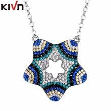 KIVN Fashion Jewelry Turkish Blue eye Star CZ Cubic Zirconia Bridal Wedding Pendant Necklaces for Womens Girls Birthday Gifts