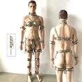 Нержавеющая Сталь мужской целомудрие устройства 10 шт./компл. ограничения неволи целомудрие кейдж мужской пояс верности наручники взрослых секс-рабыней