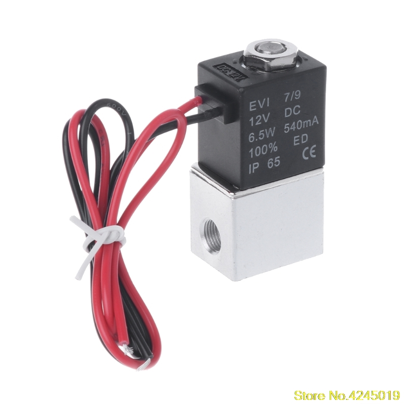 2018 High quality Normally Closed Solenoid Valve 12V DC 1/8 w/Wire For Water Air Gas