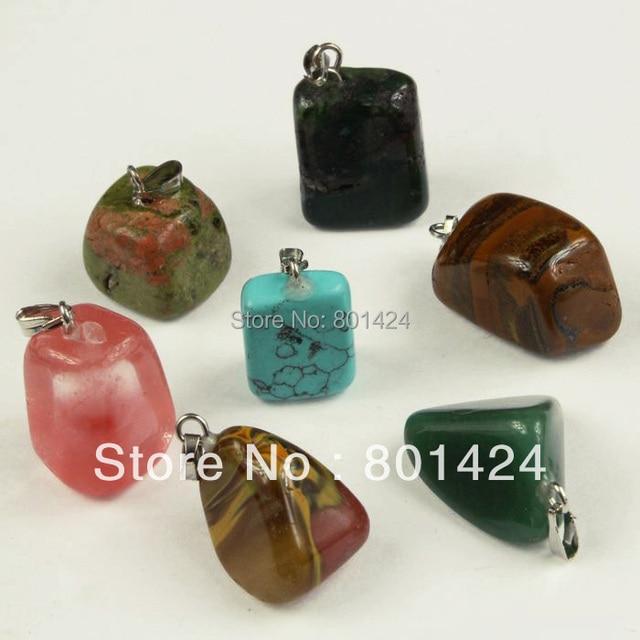 Free Shipping 20pcs 74 861 Nature Stone Pendant Semi Precious Stone