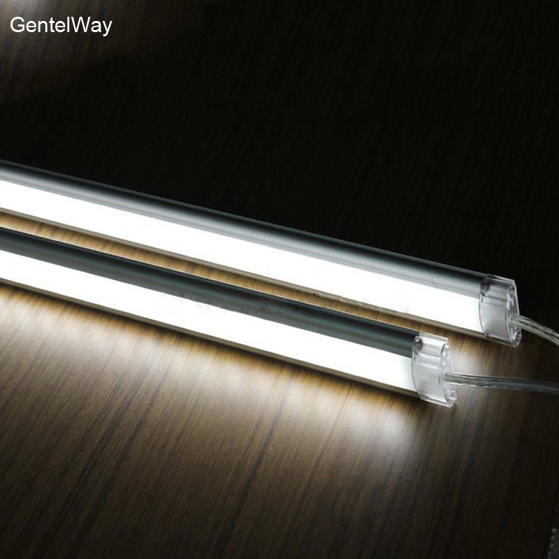 LED barra de luz para la cocina debajo del Gabinete iluminación 50 cm luces de barra rígida 6 W hogar Decoración lámpara built-in DC conector