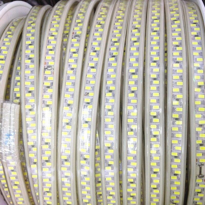 Date 110 V 220 V LED bande 5630 SMD Diode 180 LED/m Xmas maison hôtel décor haut de gamme 5730 bande lumière étanche 20 m 50 m 100 m