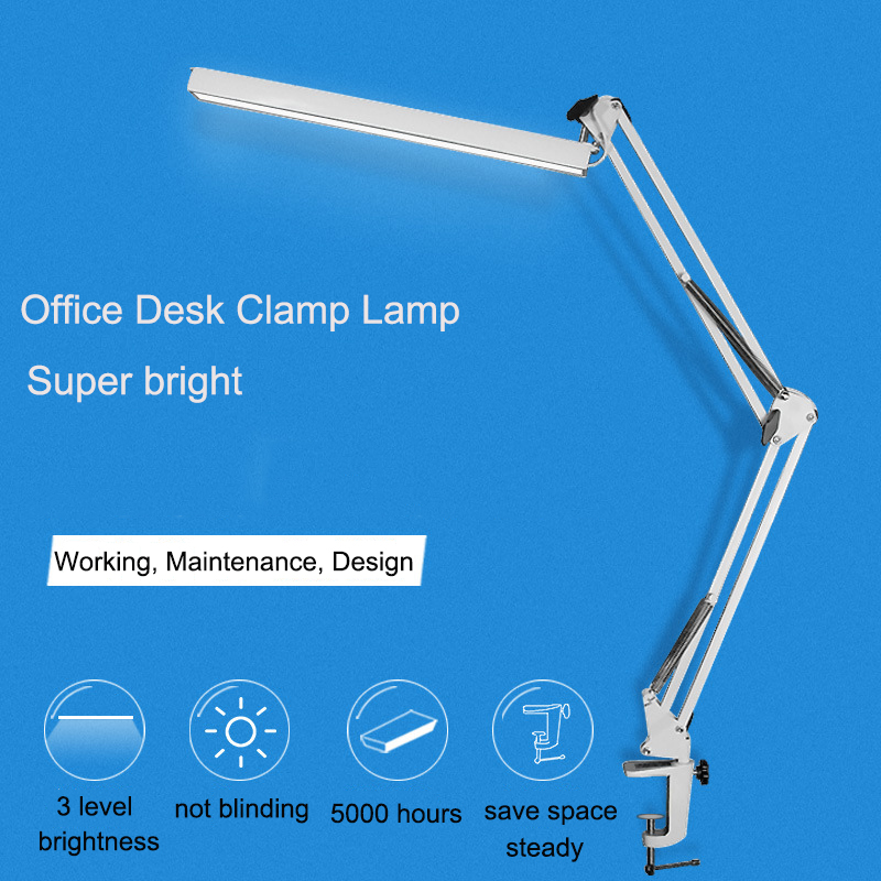 A16 Adjustable LED Office Desk Lamp with Clip 3 Level USB Power Dimmer Flexible Led Table Lamp Study Lamp Eye-caring Table Light