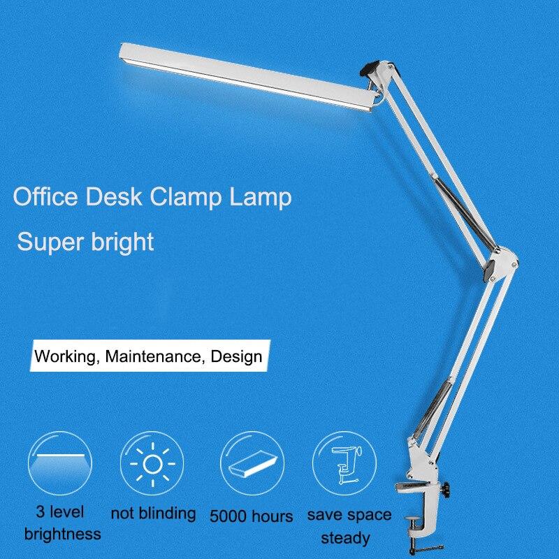 A16 Réglable LED Bureau Lampe de Bureau avec Clip 3 Niveau USB Gradateur de puissance Flexible Led Table Lampe Étude Lampe Oeil-soin Table Lumineuse