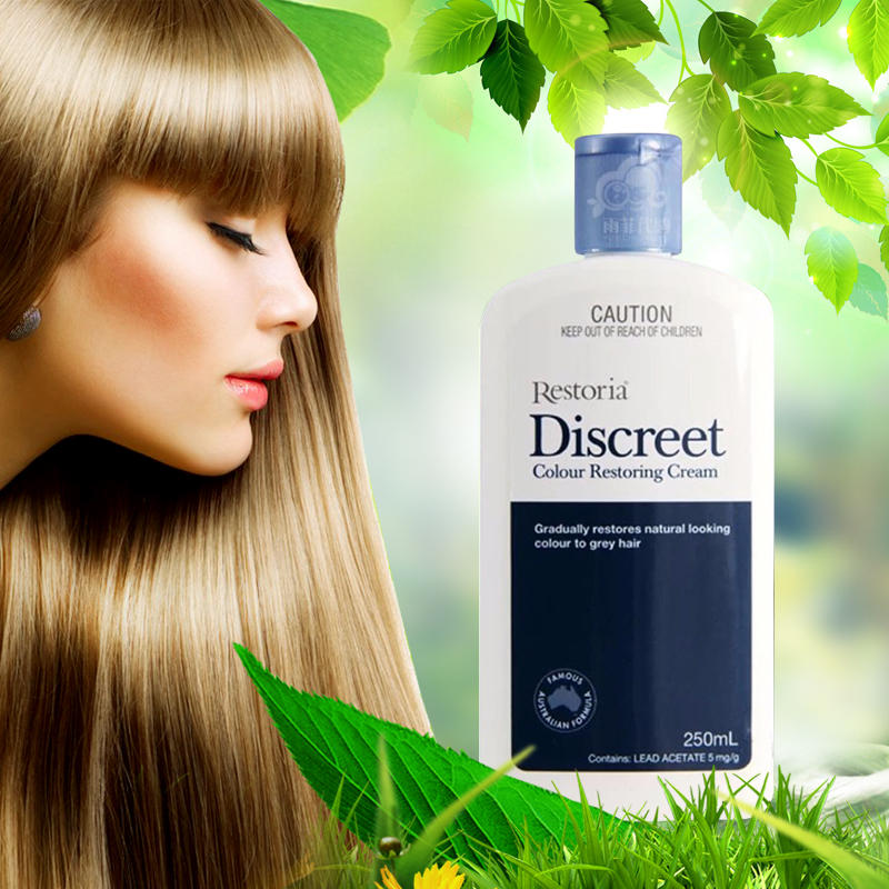 Restoria Discreet Colour Restoring Cream/ Lotion, Hair Care 250ml Grey Hair Treatment Reduce Grey Hair - Suitable for Men &Women
