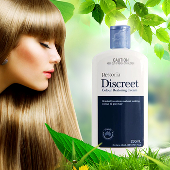 Restoria Discreet Colour Restoring Cream/ Lotion, Hair Care 250ml Grey Hair Treatment Reduce Grey Hair - Suitable for Men &Women