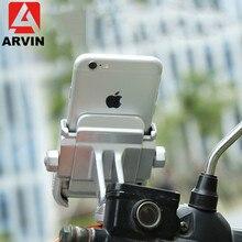 Arvin Aluminum Cycling Bicycle Phone Holder Adjustable Universal Motorcycle Mount For GPS Mountain Bike Handlebar