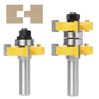 2pcs 1 2 Inch Shank High Quality Tongue And Groove Joint Assembly Router Bit Set 1