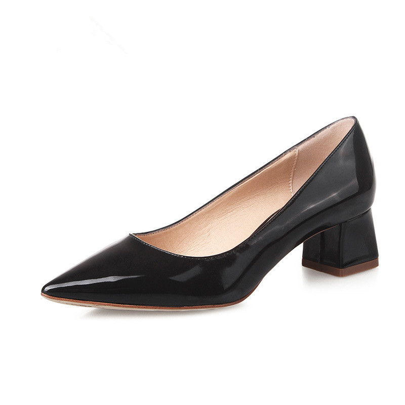 women pumps spring sexy pointed toe high heel pumps sapato feminino casual women shoes black pumps square high heels 2016 DT244
