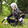 Nakigitsune Cosplay Touken Ranbu Online Nakigitsune Cool Polyester Costume With Tie Gloves & Mask