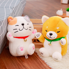 6dd5876bbc5 The New Shiba Dog and Lucky Cat Doll Plush Toys Soft Stuffed Toygood  Valentines Gifts for