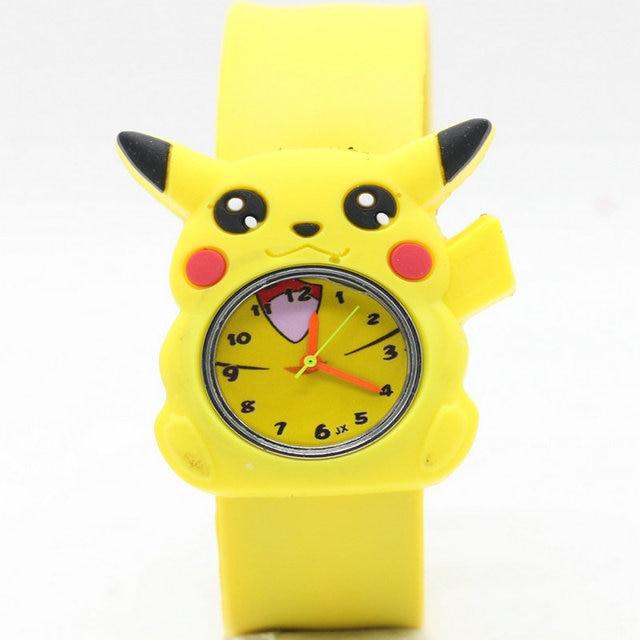 High quality Snap watches 3D Kids Cartoon watches for Pikachu children Christmas