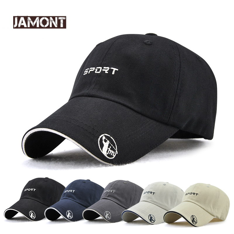 2018 Outdoor sports cap Snapback Hat Baseball Caps for Men Women Spring Summer Black Visor Adult Sun Hats Sport Golf Cap Gorras