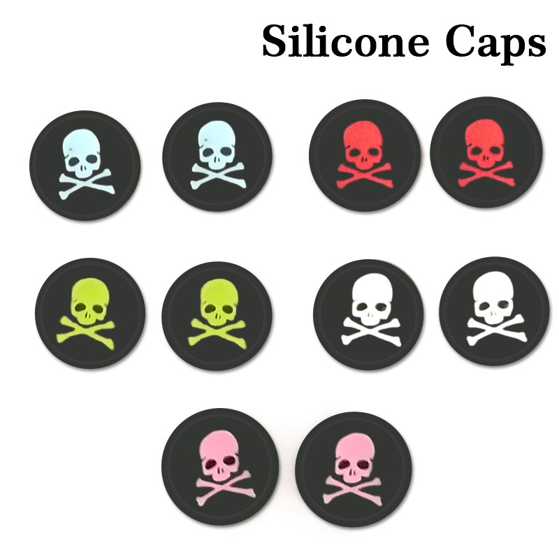 Skull Design Anti-slip Silicone Caps for Sony PS3 PS4 ps2 Game Controller Key Protector Joystick Caps for XBOX360