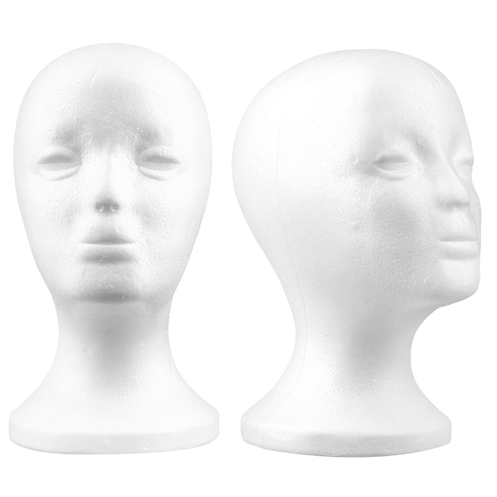 2019 NEW Practical Foam Female Mannequin Head Wigs Glasses Cap Display Holder Stand Model DropShipping in Mannequins from Home Garden