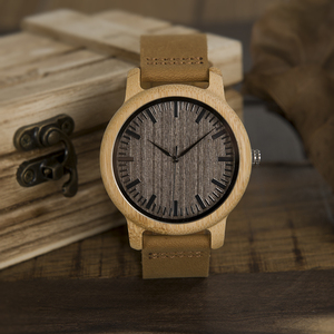 Image 5 - Часы BOBO BIRD WL10 мужские и женские, Круглые, античные, деревянные, с кожаным ремешком