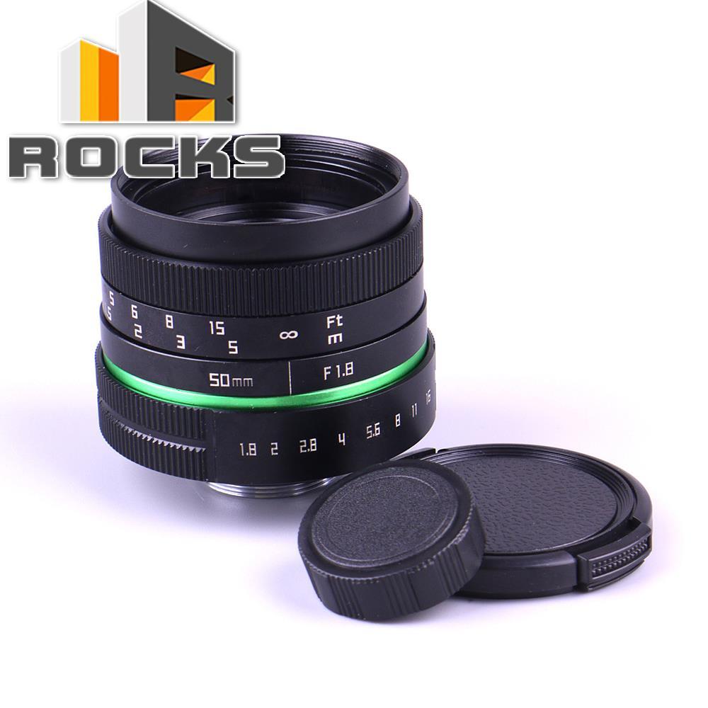 C Mount Camera 50mm F1.8 APS-C Television TV Lens/CCTV Lens Suit For 16mm C Mount Camera 50mm F1.8 Black