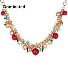 Dominated Women  Grade Luxury Color Crystal Necklace Exaggerated Chain Jewelry Necklace