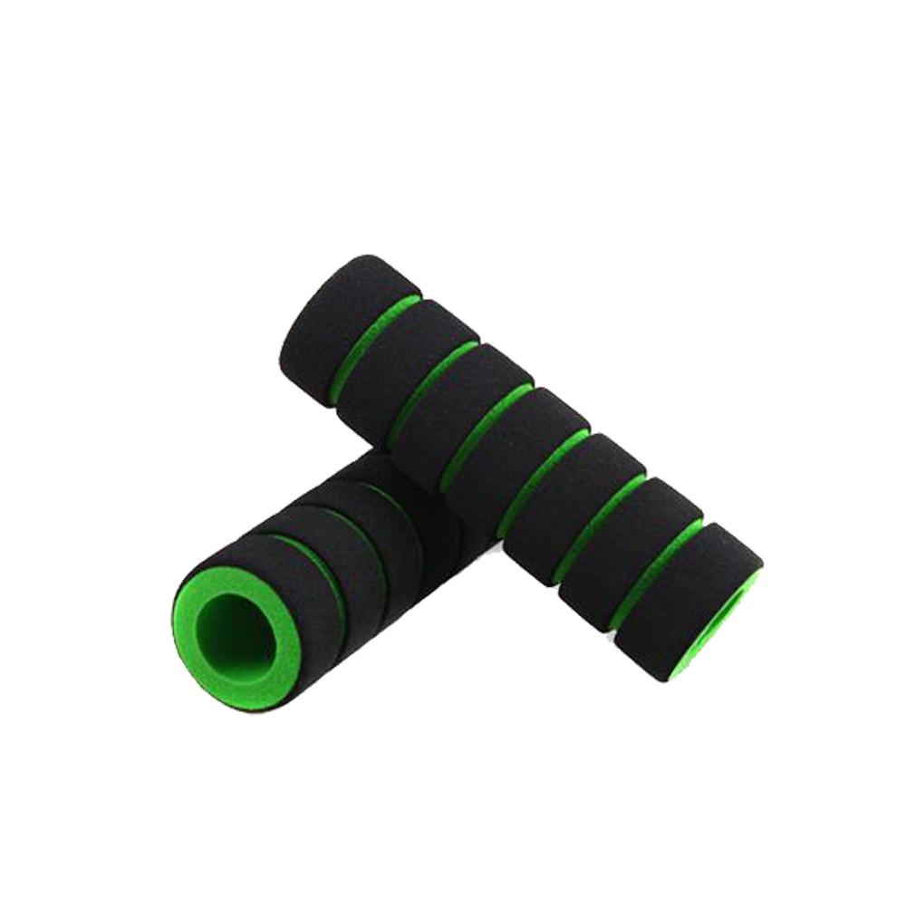 1Pair Outdoor Colorful Bicycle Slip-Proof Handle Foam Sponge Nonslip Grip Covers