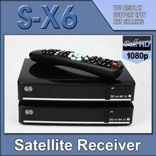 1 unid S-X6 Original Openbox X6 Ayuda del Receptor de Satélite 2 xUSB puerto PVR Ready pantalla VFD Youtube Cccamd Newcamd Youporn
