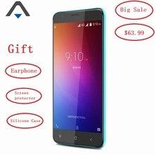 Оригинал Blackview E7S 3 г мобильного телефона Оперативная память 2 ГБ Встроенная память 16 ГБ Ёмкость 2700 мАч Quad Core Android 6.0 HD 5.5 дюймов Dual SIM Celular