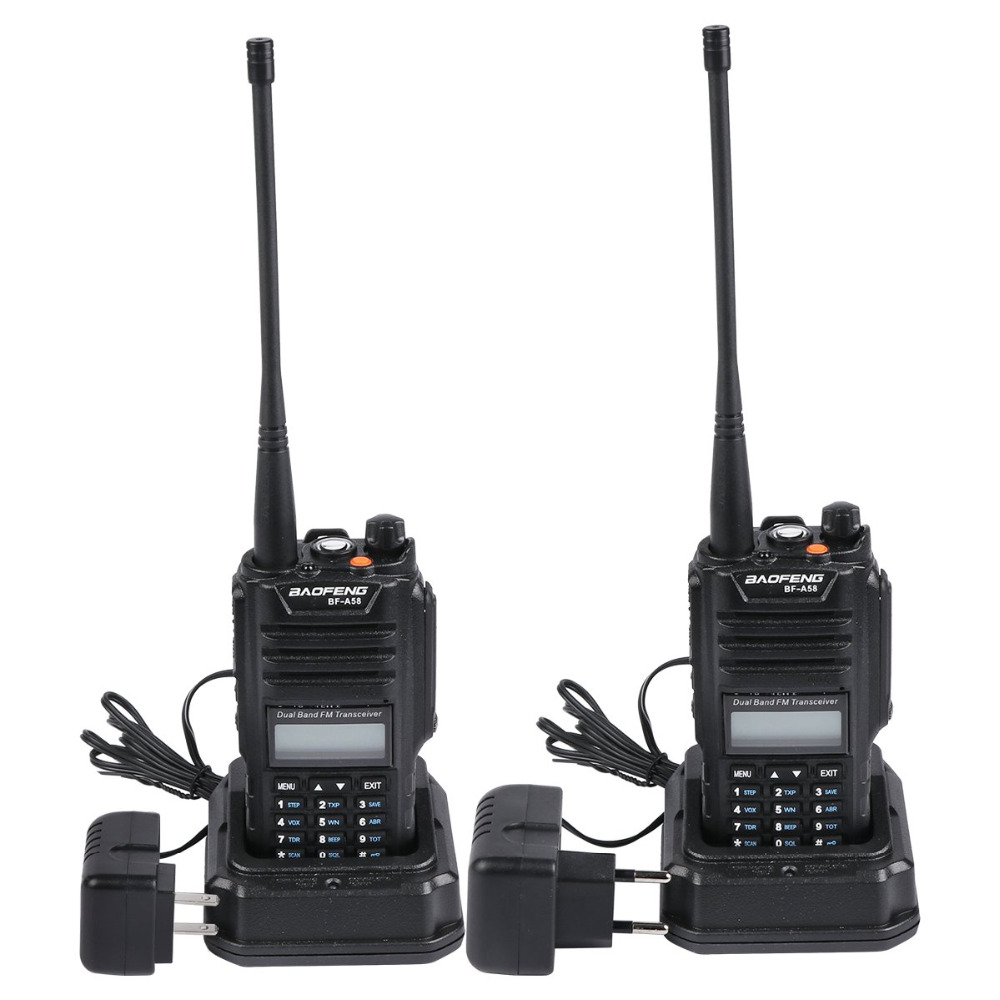 Multiband Professional Baofeng BF-A58 Waterproof Walkie-talkie With SOS FM Radio Station Radio Two Way Dual Band