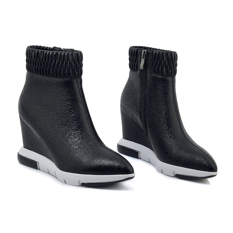 Élastique En Mode De Noir Vache Bottes Wetkiss Femmes forme Chaussures  Automne Plate 2018 Cuir Bottine Bout Pointu Casual g8qxYfxA 9ae683ee2f39