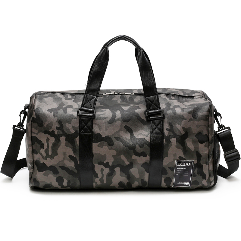 PU Waterproof High Quality Camouflage Men Travel Bags Atmosphere Comfort Shoes Position Unisex Large Capacity Bag T583