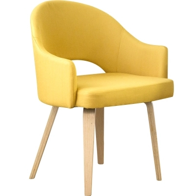 Modern Nordic style coffee chair with arm Dining chair wooden Sofa 100% cotton living room chair.Wooden Furniture Waiting Chair
