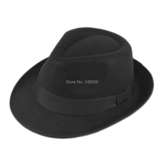 669a40f1797 Men Women Wool Cotton felt fedora hat Cappelli Toca Jazz Felt Floppy Ribbon  Band Panama Cap gorras hombre Gangster Cap 25