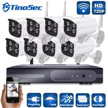 720 P 8-КАНАЛЬНЫЙ NVR WIFI Surveillance Kit Подключи и Играй HD 1.0MP Беспроводной Открытый Водонепроницаемый Ночного Видения CCTV Камеры Безопасности система