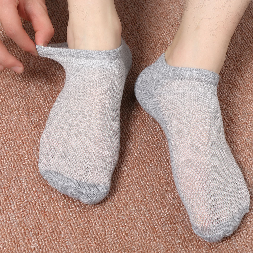 Lovely 1pair Casual Men Socks Polyester Breathable Socks Men Short Boat Socks 3 Pure Colors 100% Original Underwear & Sleepwears