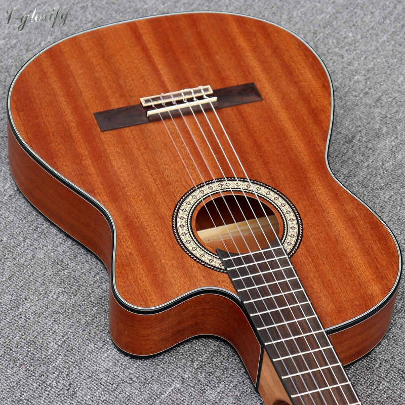 Image 3 - cutway thin body classic guitar full mahoganyelectric classical guitarclassical guitarguitare guitare -