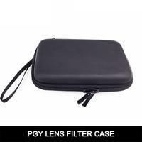 Cewaal Portable 16*11*3.7 cm Voyage Cas Caméra Filtre Lens Sac Adaptateur Anneau Boîte De Rangement 6 Poches pour DJI Phantom 3/4