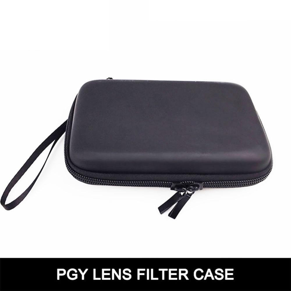Cewaal Portable 16*11*3.7cm Travel Case Camera Filter Lens Bag Adapter Ring Storage Box 6 Pockets for DJI Phantom 3/4