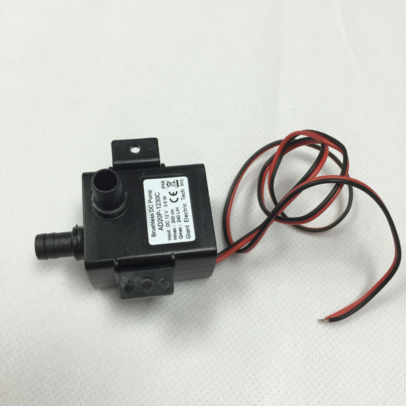 Ultra-quiet DC 12V 4.8W 240L/H Flow Rate Waterproof Brushless Pump Mini Submersible Water Pump 2019 Brand New Dropshipping