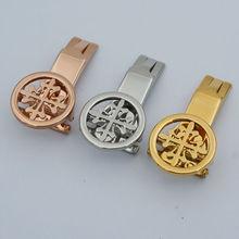 Maikes neuf de haute qualité en acier inoxydable fermoir du bracelet montre bracelet 18 mm 20 mm or argent boucle déployante pour Patek