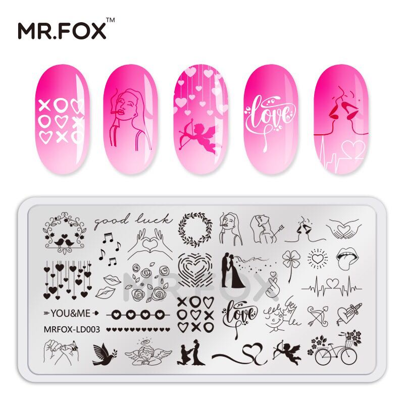 5 6 5cm Nail Stamping Plate Valentine 39 s Day Series Manicure Stencils Nail Art Image Template Tool in Nail Art Templates from Beauty amp Health