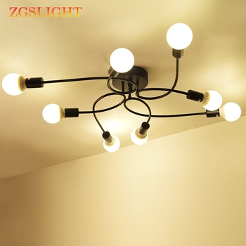 Vintage industry Led Ceiling Lamps For Living Room illumination Ceiling Light Lighting Fixture E27 Indoor Lighting