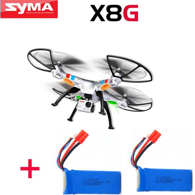 (Con due batterie) original syma X8G 4ch 6 assi Venture con 8mp macchina fotografica rc quadcopter drone rtf 2.4 ghz fotocamera drone