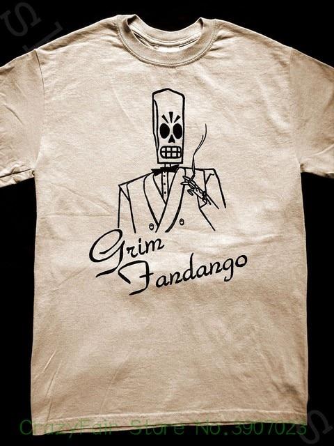 dbc1e984915 Grim Fandango T Shirt ( Monkey Island Loom Lucasarts Full Throttle Day  Tentacle ) Print T Shirt Summer Style