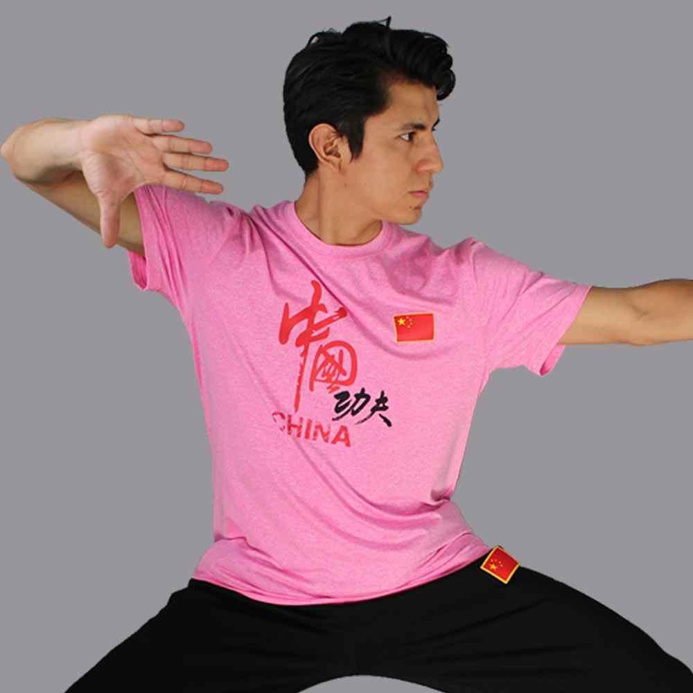 Ccwushu T-shirt wushu kleding uniform wushu T-shirt chinese kungfu kleding wushu taichi taiji kleding uniform