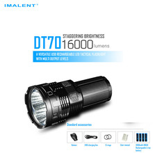 IMALENT DT70 CREE XHP70 16000 Lumens 700 Meters USB Charging Interface LED Flashlight by 4*18650 Batteries