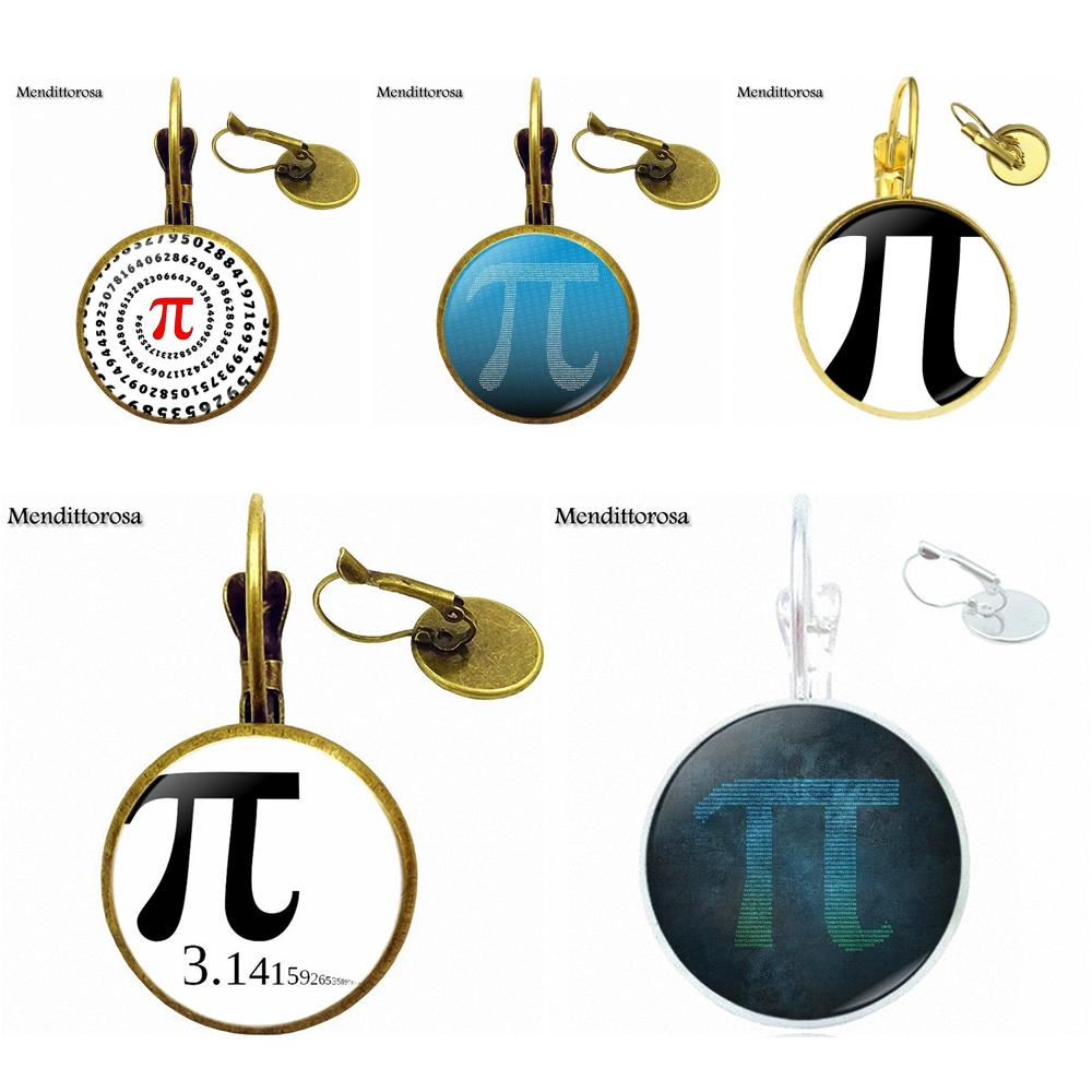 Mendittorosa Fashion Glass Bronze/Silver/Golden Clip Ear Hook Drop Earringss Jewelry For Women Choker Pi Maths