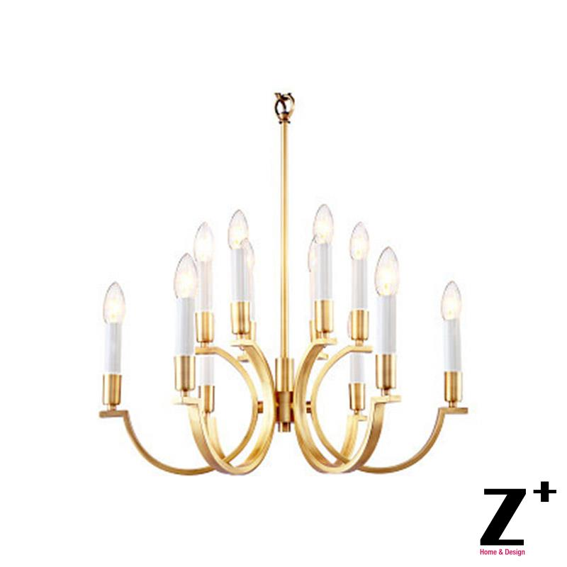 Modern Led New Classical E14 Brass Copper Vintage Chandelier Free Shipping modern 3l 5l 6l 8l 10l brass pendant lamp antique brass chandelier vintage total copper glass ac 100% guaranteed free shipping