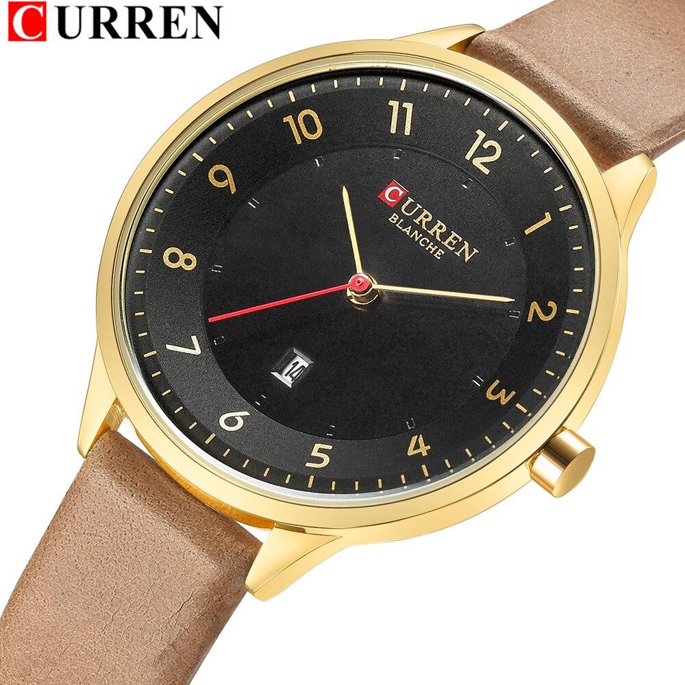Slim Leather Watch For Women Fahion Quartz Female Clock With Date CURREN Digital Wristwatch Ladies Casual Watches Montre Femme