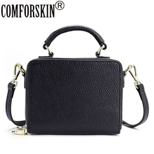 COMFORSKIN Premium 100% Cowhide Leather Women Handbag New Arrivals Fashion Design Ladies Totes Hot Vintage Business Bags