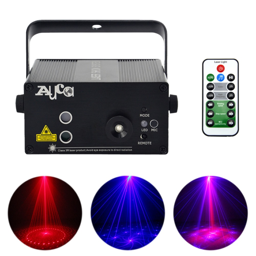 AUCD 16 Patterns RB Laser Crossover Effect Projector 3W Blue LED Mixing Effect DJ KTV Party Show Wedding Stage Lighting L16RB