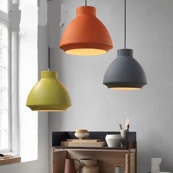 Nordic chandelier lid simple restaurant cafes bar creative color single-headed tea shop hot pot shop lamps LU726245